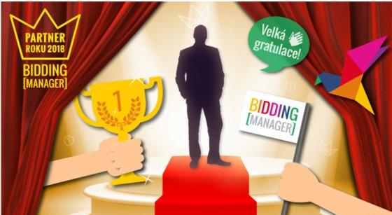 """První místo """"Certfikovaný partner roku 2018"""" - Bidding[Manager]"""